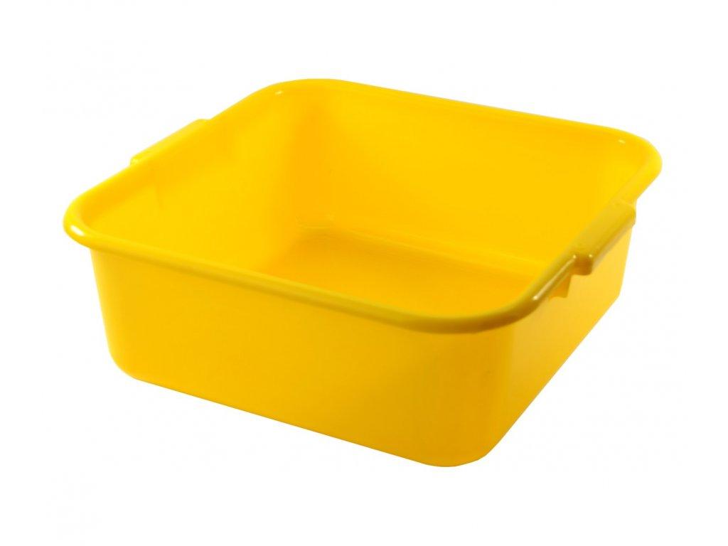 Dřez plastový 36x36cm žlutý  CZ