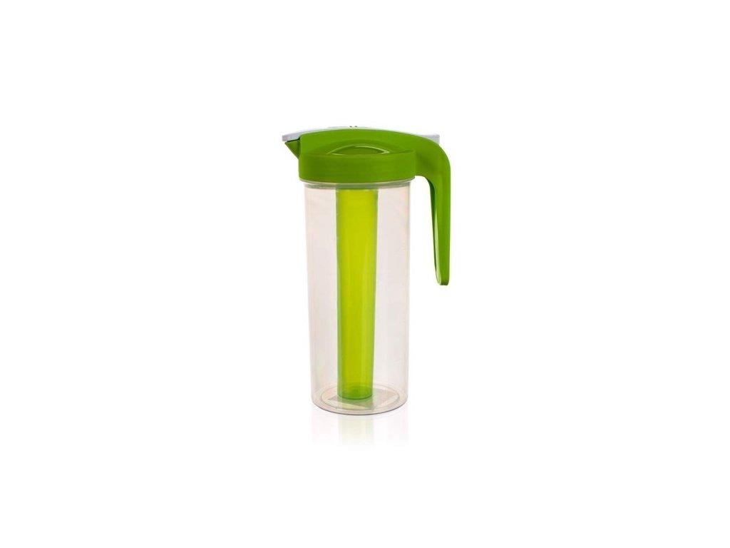Džbán plastový 1,4L s víkem a chladící vložkou  BANQUET, mix