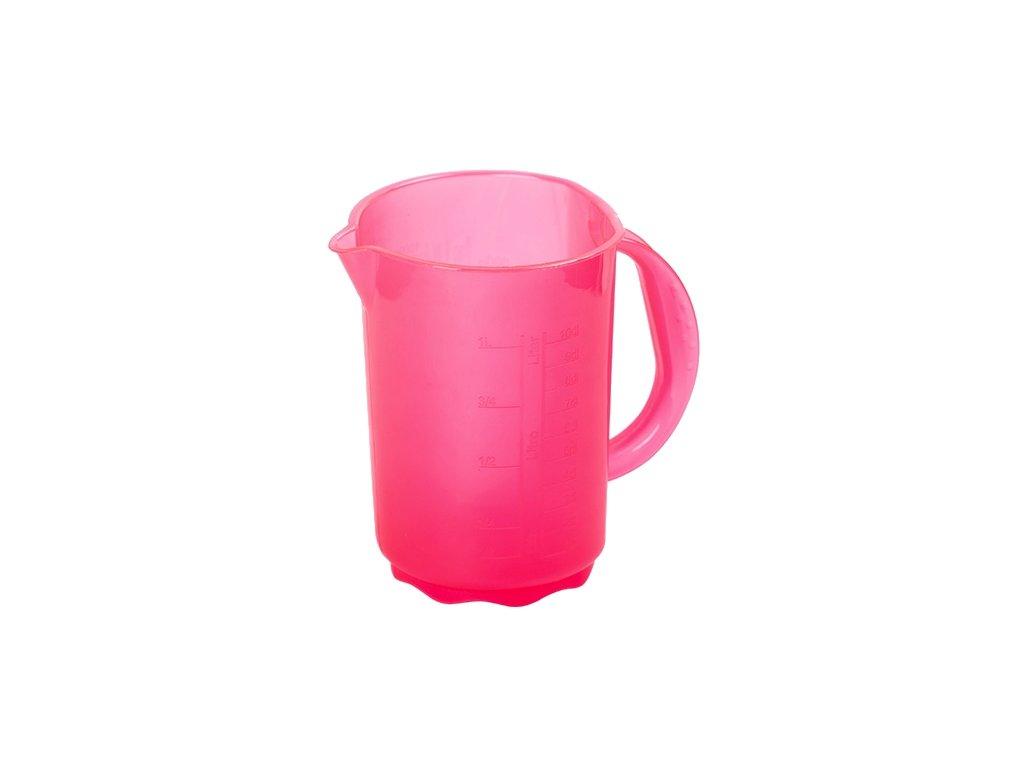 Džbán plastový 1L bez víka, odměrný  COLOR, mix barev