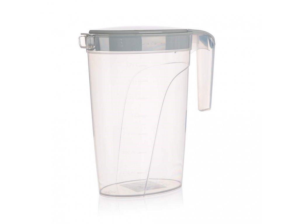 Džbán plastový 2L s víkem  CULINARIA šedý