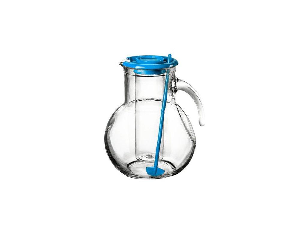 Džbán sklo 2L s chladící vložkou modrý  KUFRA
