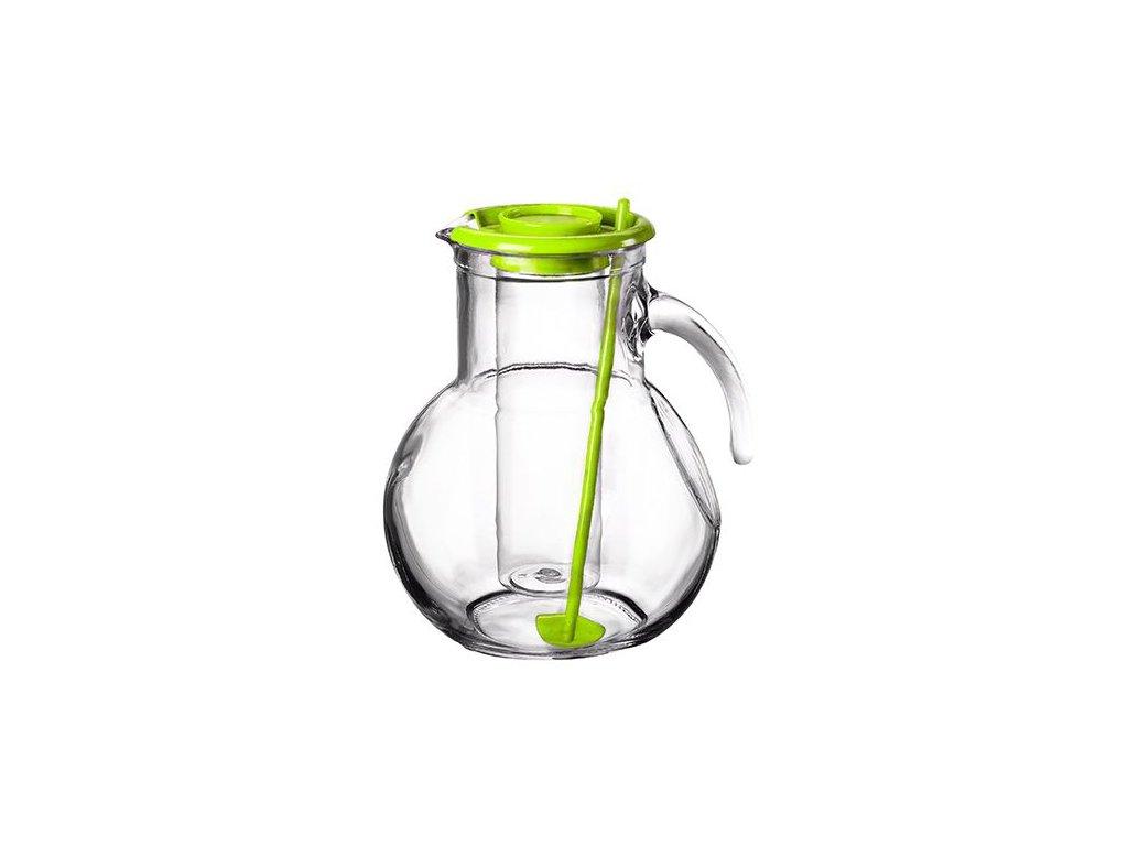 Džbán sklo 2L s chladící vložkou zelený  KUFRA