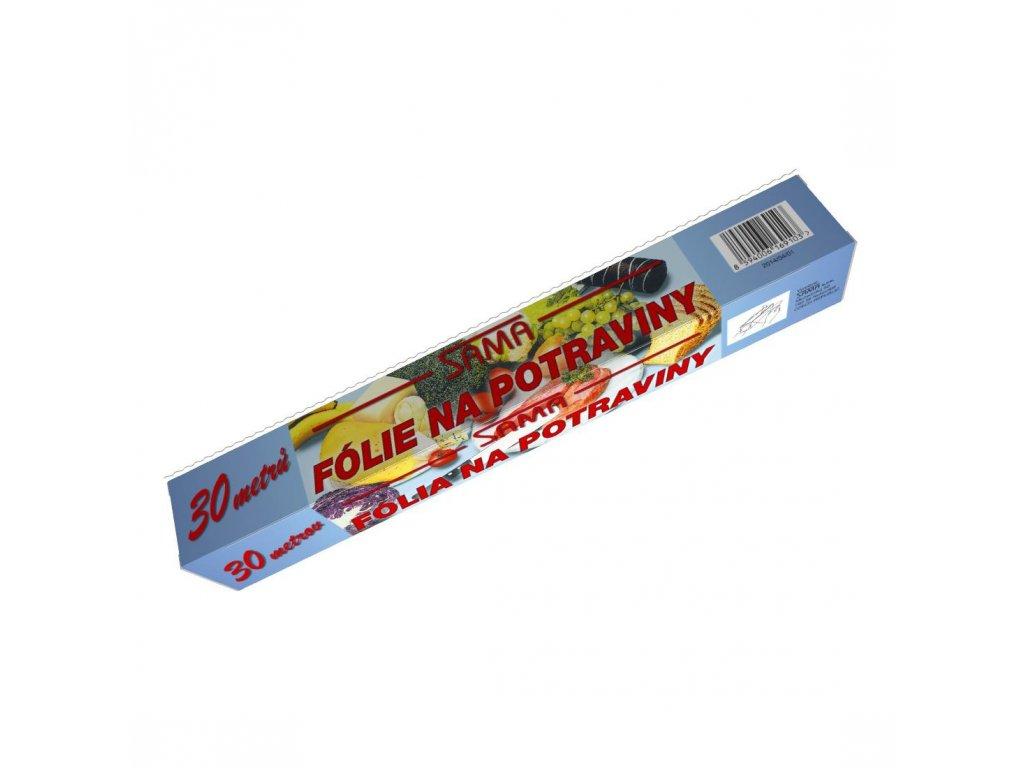 Fólie potravinová 30cm/30m, 9um box  SAMA