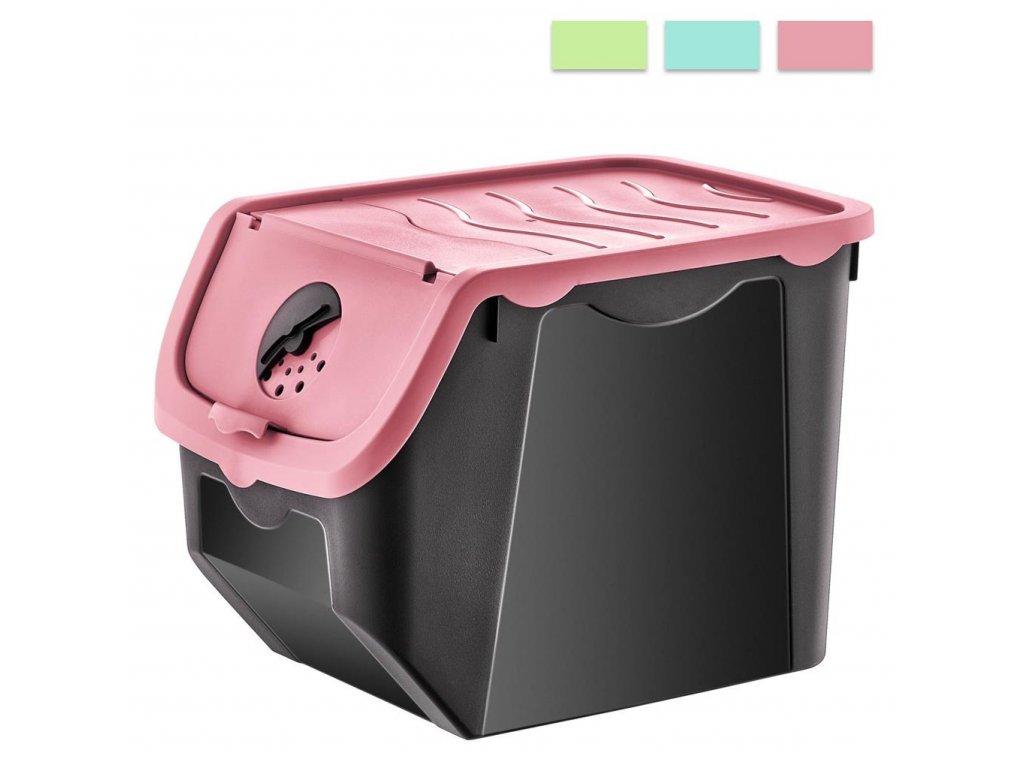 Box skladovací 12L CIBULÁK, mix barev