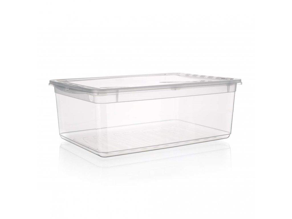 Box úložný BEA 39x26,5x14cm 11L čirý
