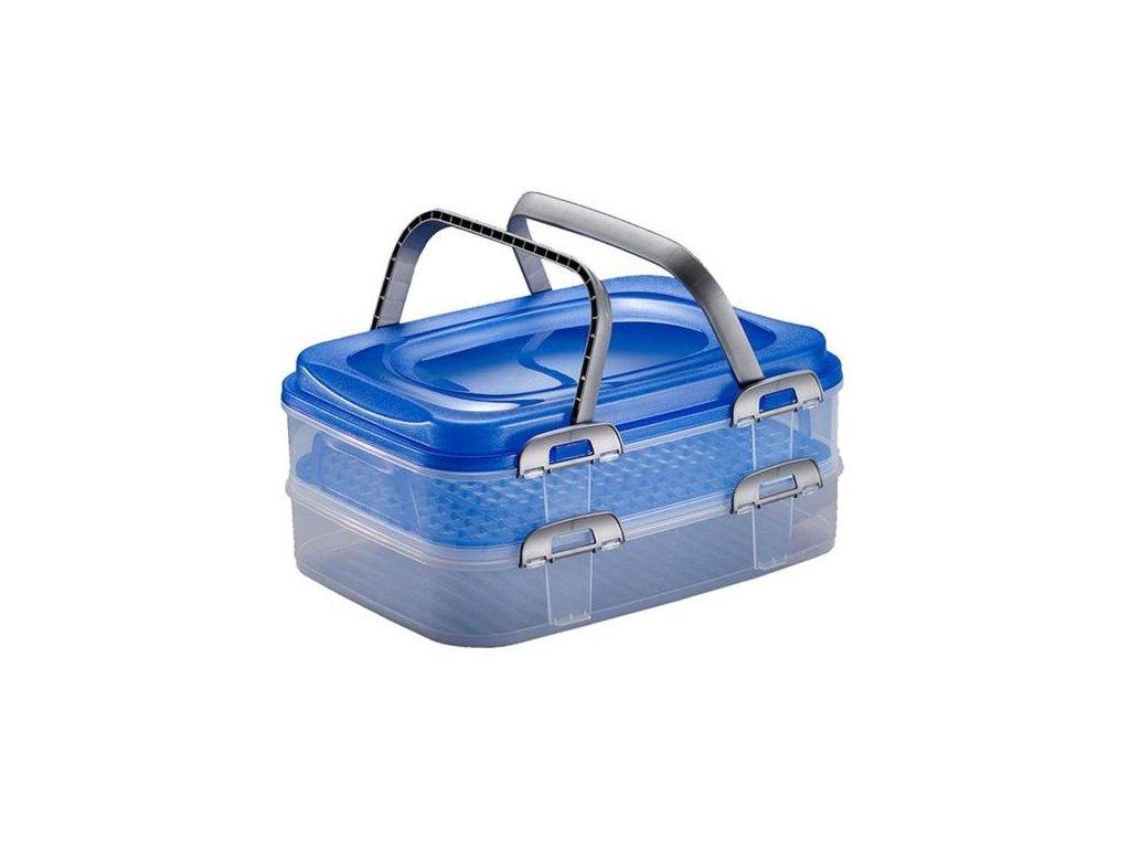 Box úložný na potraviny PIKNIK DUO 40x30x18cm, mix barev