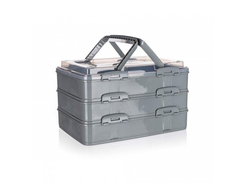 Box úložný na potraviny PIKNIK PARTY 42x29x25cm šedý