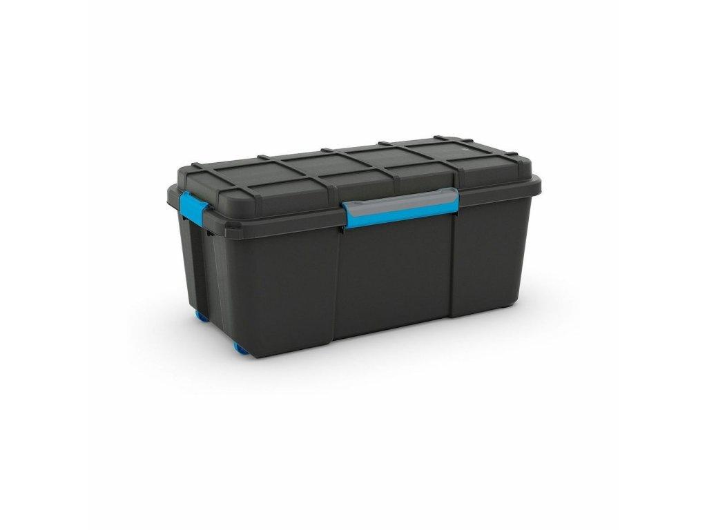 Box úložný SCUDA L 78x39,5x35cm 80L černá/modrá