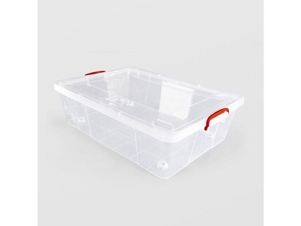 Box úložný STERK KLIP 38L s kolečky