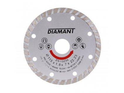 Kotouč diamant řezný ¤115x22,2x2,5mm TURBO  DIAMANT