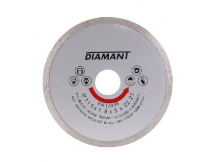 Kotouč diamant řezný ¤115x22,2x2mm celoobvod  DIAMANT
