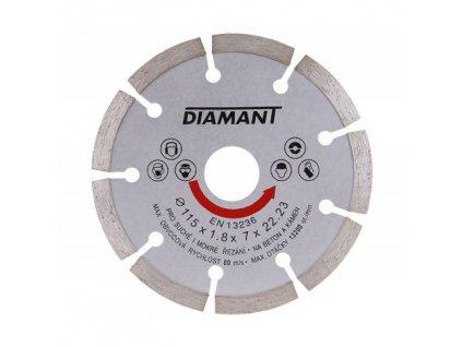 Kotouč diamant řezný ¤115x22,2x2mm segment  DIAMANT