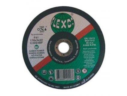 Kotouč řežný kámen, kovy, litina 125x3x22mm  FLEXCO