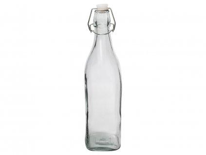 Láhev sklo patentní uzávěr 1000ml hranatá  BUTY