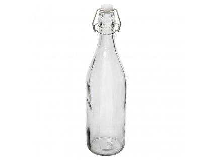 Láhev sklo patentní uzávěr 1000ml kulatá  ROUND