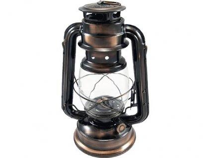 Lampa petrolejová ANTIK 25cm bronz