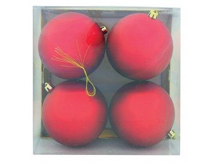 Baňky vánoční XMAS M03 velké 4ks červené/zlaté