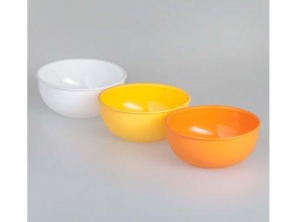 Miska PH 0,4L (¤12x5cm)  PLASTIK  CZ, mix barev