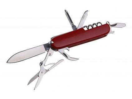 Nůž kapesní zavírací 6 funkcí červený  FESTA