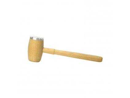 Palička na maso dřevo/hliník kulatá jednostranná  CZ