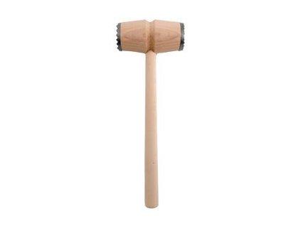 Palička na maso dřevo/kov oboustranná  WOOD