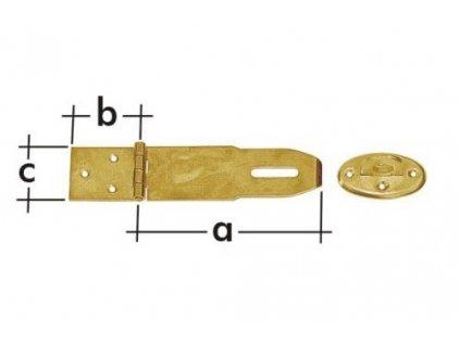Petlice 130+50/45mm s2mm 2díly Zn