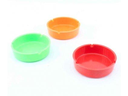 Popelník plast ¤10cm, mix barev