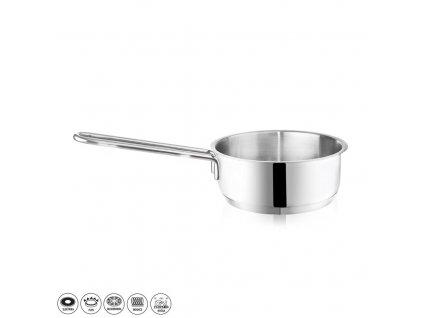Rendlík Nerez ¤12x6cm 0,6L s ručkou, indukce