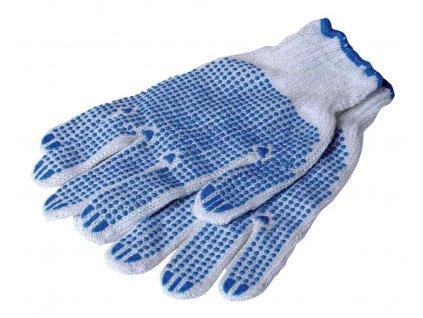 Rukavice zahradní textilní s terčíky  ENGER