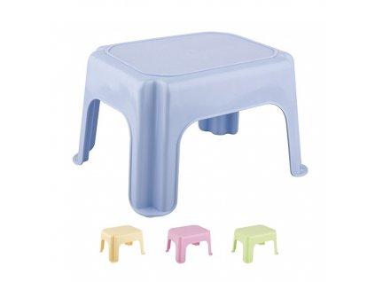 Stolička taburet nízká jednoduchá  STAR, mix barev