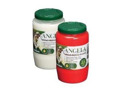 Svíčka olejová 160g 2,5dne  ANGELA BOLSIUS, červená