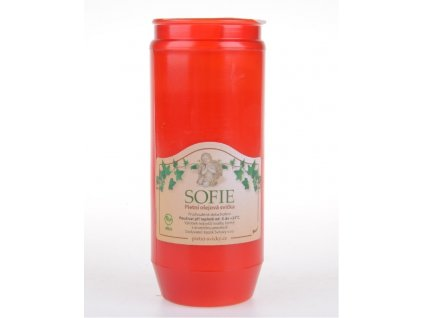 Svíčka olejová 240g 4dny  SOFIE BOLSIUS červená