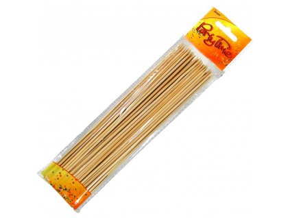 Špejle bambus hrocené kulaté 20cm 50ks  PARTY TIME