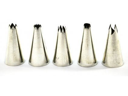 Špička zdobící zubatá MIX   CZ (odběr bal. 5ks)