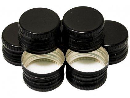 Uzávěr PP 28x18mm alkork, závit, pojistka, černý
