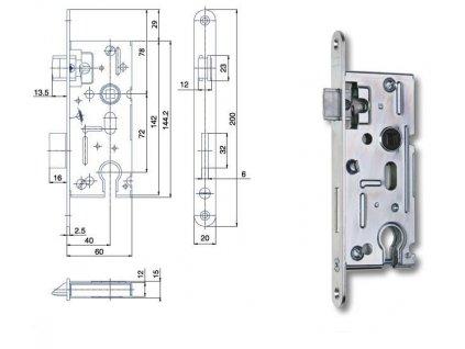 Zámek zadlabací F K105 P+L 60/72  HOBES