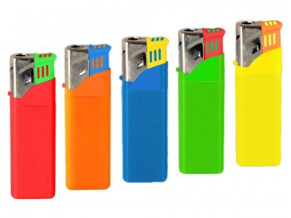Zapalovač AiT piezo plynový cigaretový tryska  TURBO neon
