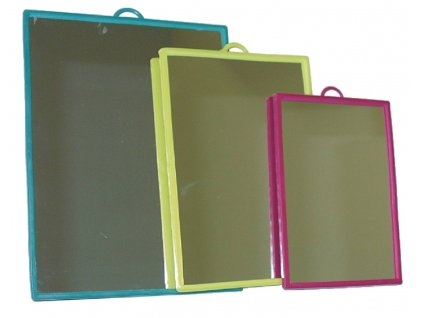 Zrcadlo obdelník 12x17cm  ABELLA 216, mix barev