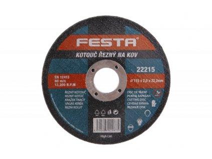 Kotouč řezný FE 115x2x22mm  FESTA