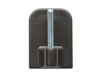 Háček vitrážní samolepící hnědý  CZ (odběr bal.10ks)