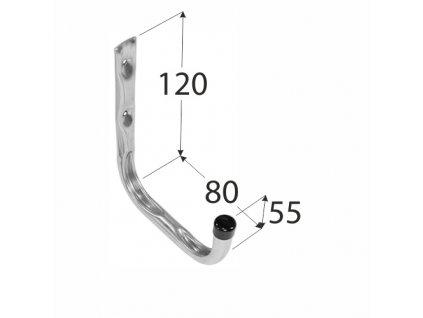 Hák závěsný jednoduchý  80mm  HPU VELANO