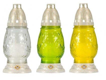 Hřbitovní sklo 20cm svíčka vklad 60g  TRADIC, mix barev