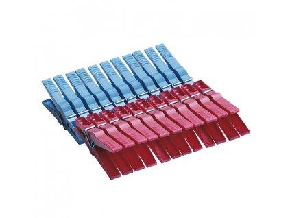 Kolíčky na prádlo 22ks plast  EXTRA MTM, mix barev