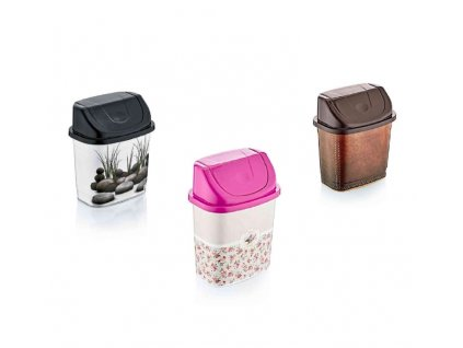 Koš odpadkový výklopný  2,2L  DEKOR, mix dekorů
