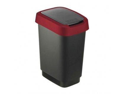Koš odpadkový výklopný 10L TWIST ROTHO černovínový