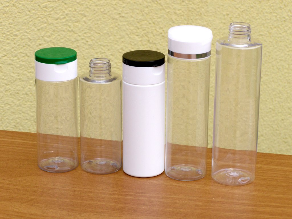 Lahvička PET 250 ml závit 24 mm transparent bez uzávěru