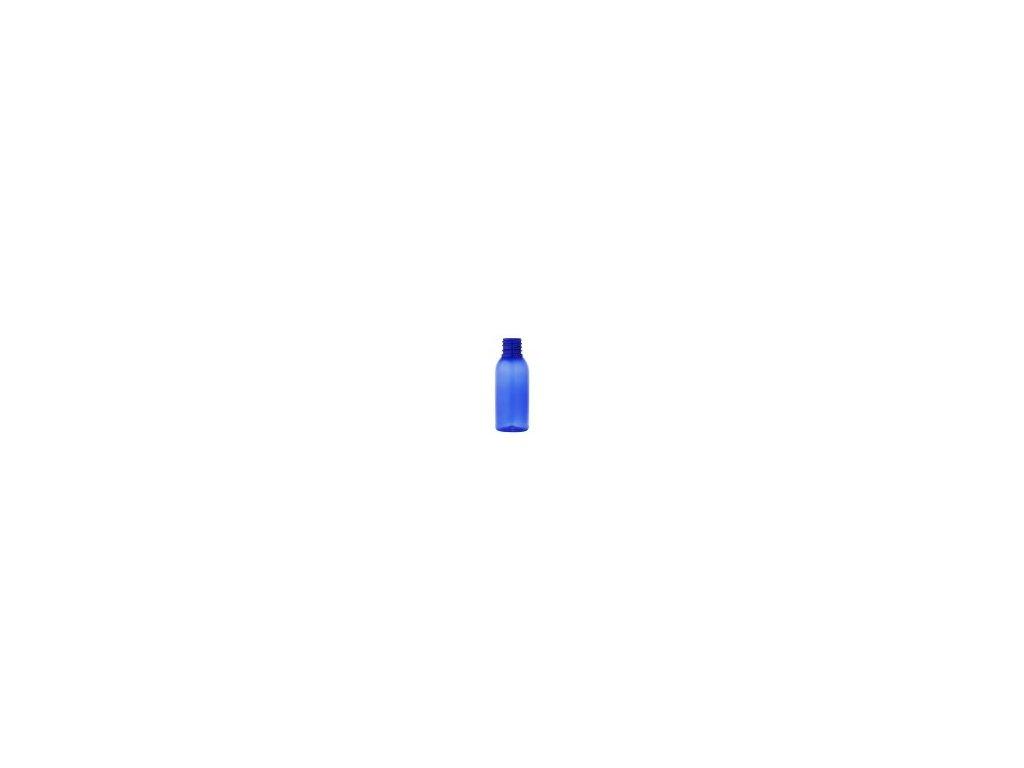Lahvička PET modrá 100 ml  uzávěr 28 mm