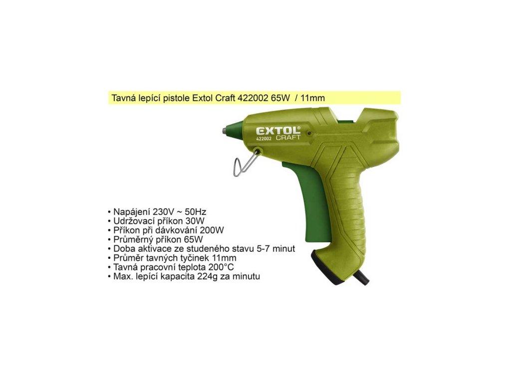 Pistole tavná Extol Craft 65 W 11 mm