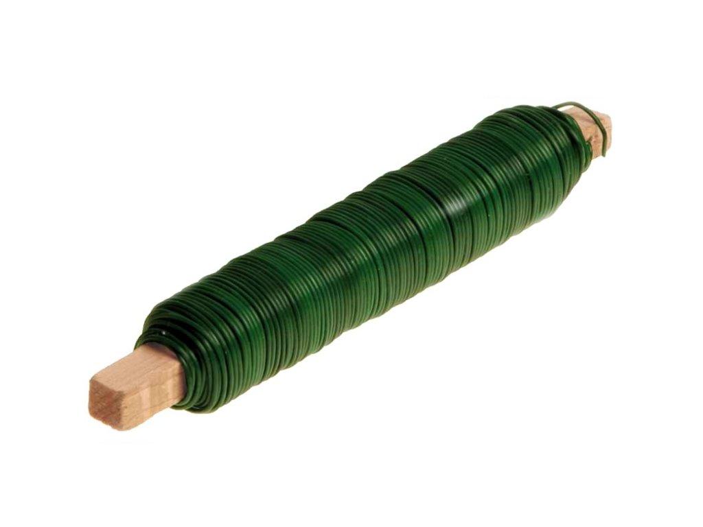 Drátek vázací s PVC potahem 0,6mm délka 30m na dřívku