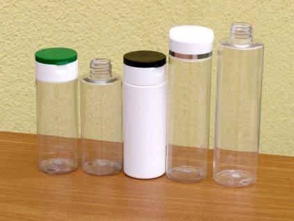Lahvička PET 150 ml závit 24 mm transparent bez uzávěru